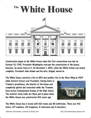 facts about the white house 52 best images about summer worksheets on pinterest handwriting worksheets thomas jefferson