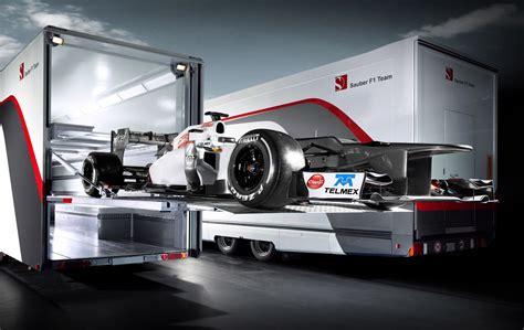 sauber  team unleashes interim bodied  race car