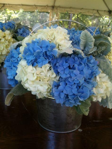 blue hydrangea centerpiece blue white hydrangea centerpiece hydrangeas