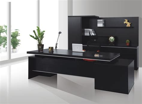 Desk In Office Black Office Desk Suited In Every Office Designinyou Decor
