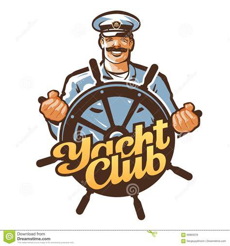 boat steering wheel logo yacht club vector logo ship captain sailor or helm