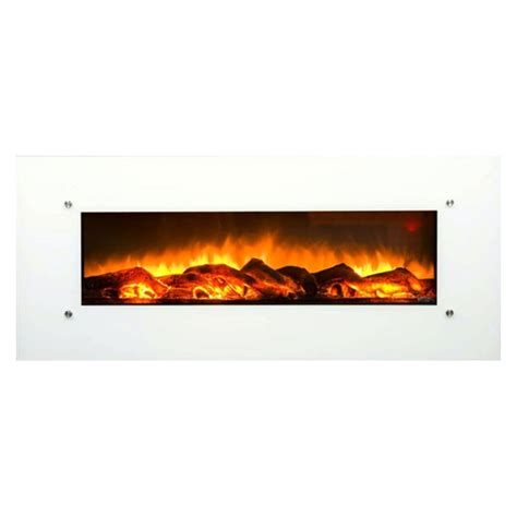 50 electric wall mounted fireplace touchstone ivory 50 inch electric wall mounted fireplace
