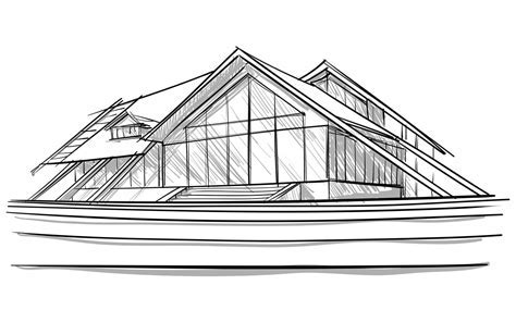14 Modern Home Architecture Sketches   euglena.biz
