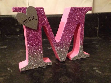 Letter Decoration Ideas 25 Best Ideas About Glitter Letters On Decorated Letters Decorated Wooden Letters