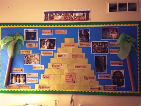 ks2 themes topics egypt bulletin board display school lesson ideas