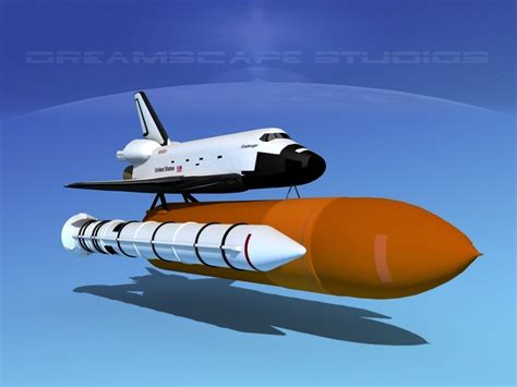 the challenger launch space shuttle challenger launch lp 1 4 3d model rigged max