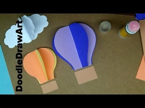 How Do You Make A Paper Parachute - paper craft how to make air balloon wall decorations