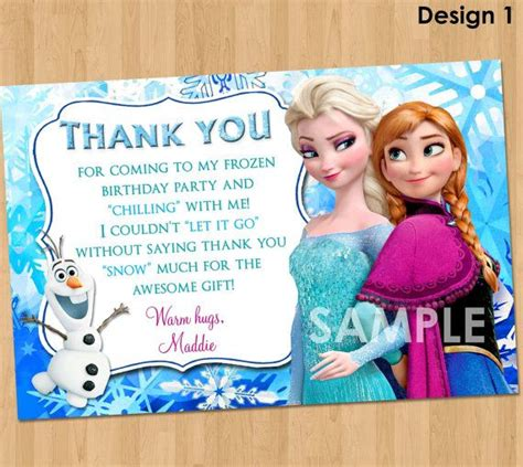 printable olaf thank you cards 17 best images about frozen party on pinterest