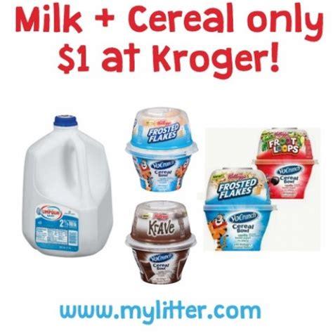 free milk at kroger coupon matchup mylitter one deal hot milk cereal money maker at kroger mylitter one