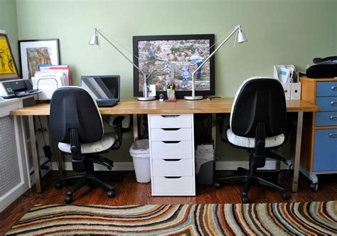Rousing And Smart Home Office Ideas With 2 Person Desk At Home Office Desk Ikea