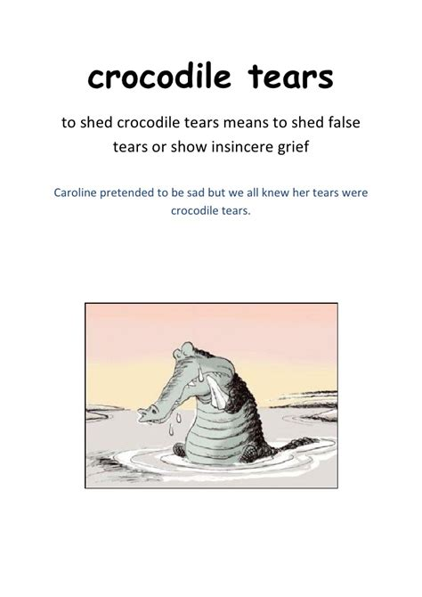 Shedding Crocodile Tears by Animal Idioms