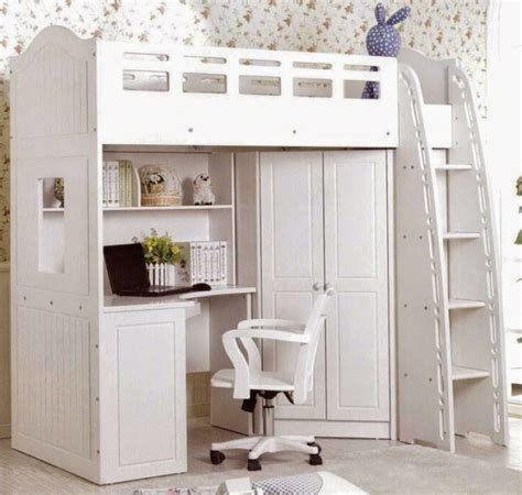 all in one bunk bed with desk bed closet and desk all in one