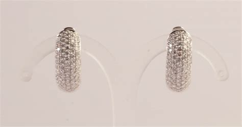 pave diamanti orecchini con pav 233 di diamanti orologi e gioielli