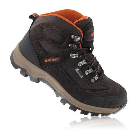 mens hi tec walking boots hi tec mens hillside brown waterproof outdoors
