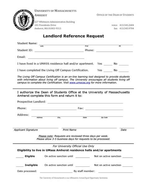 landlord reference form template landlord reference letter sles templates form