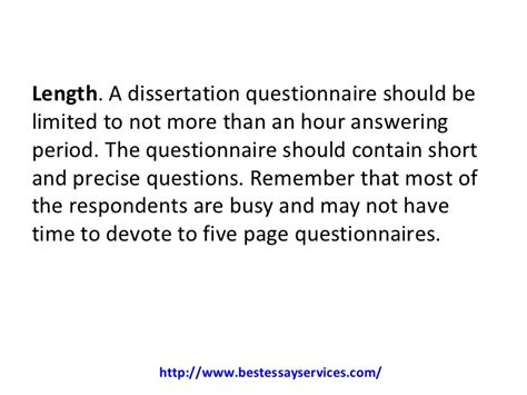 how to write a questionnaire for dissertation how to write a dissertation questionnaire
