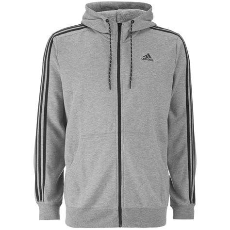 Adidas Essentials 3 Stripes Grey Original adidas s essential 3 stripe hoody grey sports leisure zavvi