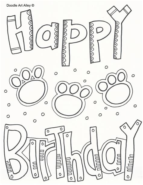 happy birthday dog coloring pages happy furry dog coloring page coloring pages