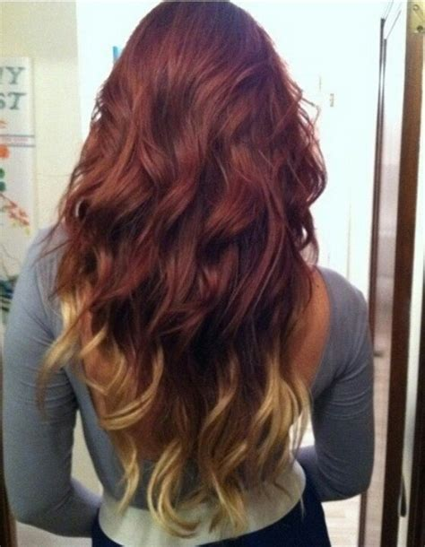 how to dye tips of hair with red kool aid for black hair red hair blonde tips hair color pinterest