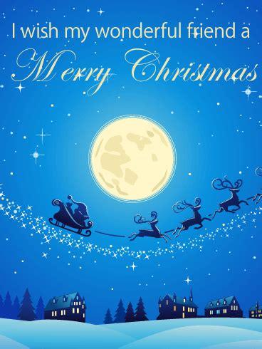 silent night merry christmas card  friends birthday greeting cards  davia