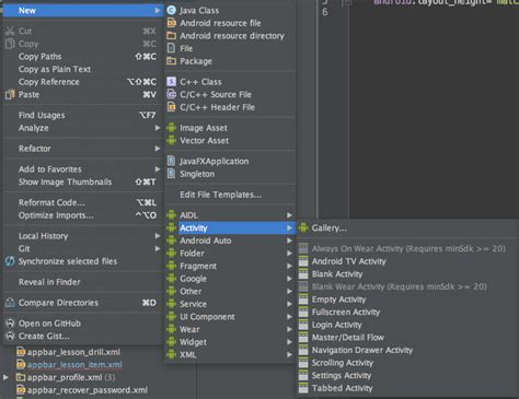 pattern android studio new activity fragment pattern for android studio 1 4