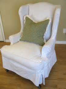 Wing Chair Slipcover White » Home Design 2017