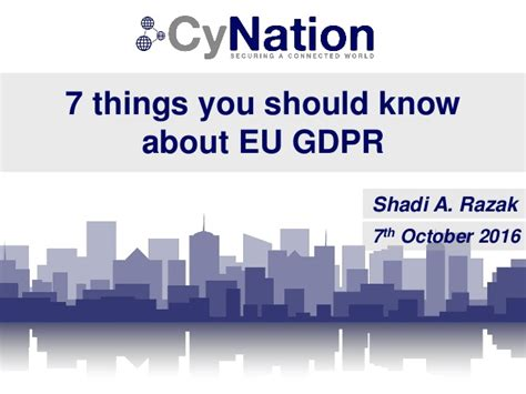 7 Things You Should About by Cynation 7 Things You Should About Eu Gdpr