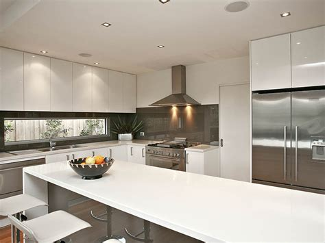 Australian Kitchen Design by Down Lighting In A Kitchen Design From An Australian Home