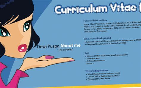 bahasa indonesia nya layout 5 langkah mudah membuat curriculum vitae cv lebih