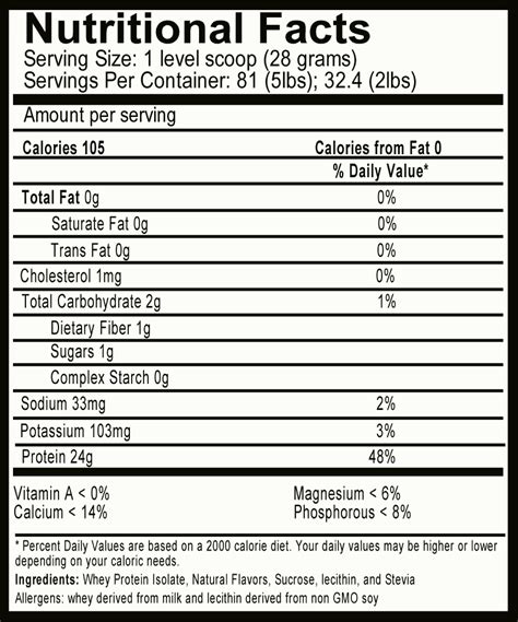 protein nutrition facts eas vanilla whey protein powder nutrition facts