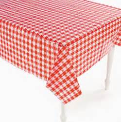 white checkered tablecloth western plastic