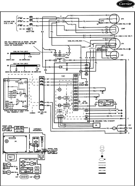 carrier package unit furnace wiring diagram carrier wiring