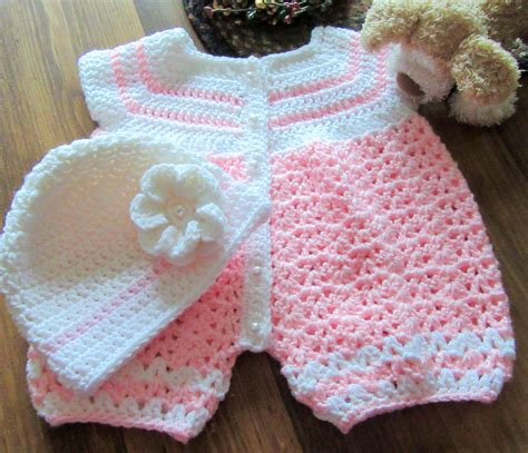 Handmade Baby Onesies - crochet baby romper handmade baby onesie baby by