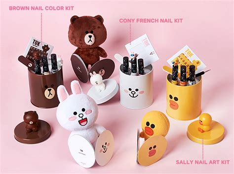 tok x line friends nail collection lets you diy the