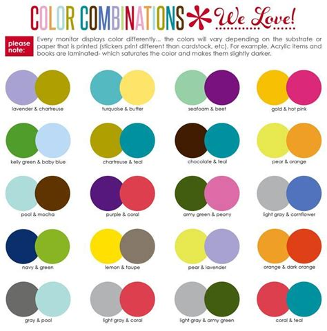 color combos image result for suggested color combinations erin condren