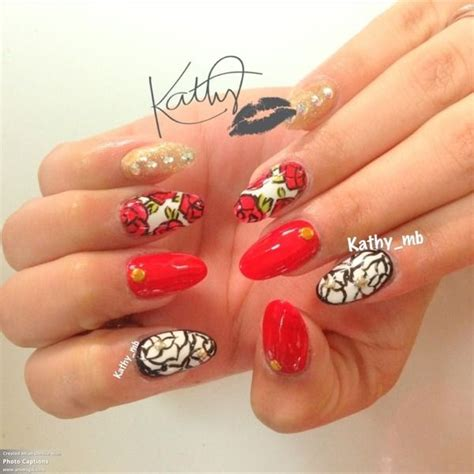 acrylic paint for nails acrylic paint roses nails nailart nails
