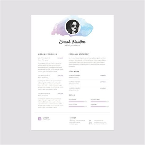 Business Letter Template Photoshop Creative Resume Template Instant Cover Letter