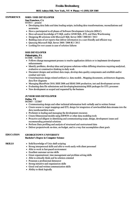 Ssis Resume by Colorful Ssis Resume Sle Composition Resume Exles
