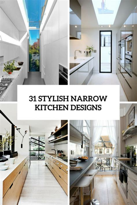 Small Narrow Kitchen Design by 31 Stylish And Functional Super Narrow Kitchen Design