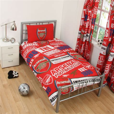 arsenal quilt cover arsenal fc patch single duvet cover set characterlinens