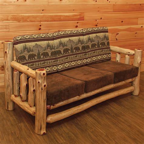 log sofa wildwood rustics red cedar log coffee table