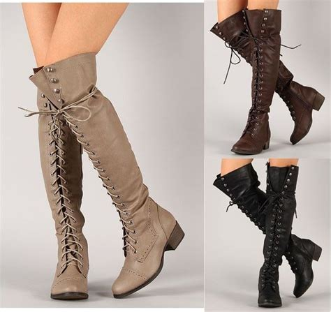 breckelle alabama 12 the knee thigh high lace up