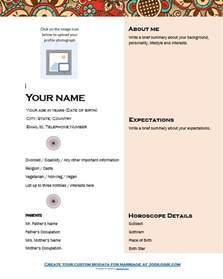 Biodata Template by 7 Sle Biodata Format For Marriage With Bonus Writing Tips