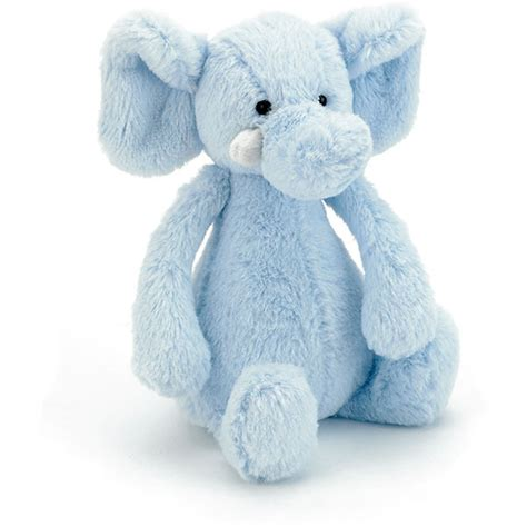 Jellycat Bashful Elly Soother Blue jellycat bashful blue elly rattle plushpaws co uk