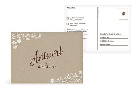 Format Hochzeitseinladung by Antwortkarte Quot Vintage Quot