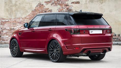 kahn range rover sport kahn reveals stunning firenze red range rover sport 400le