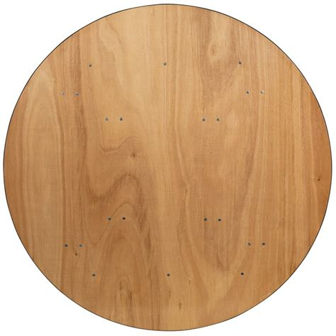Unfinished Round Wood Table Tops 60 Round Wood Folding Banquet Table With Unfinished Top
