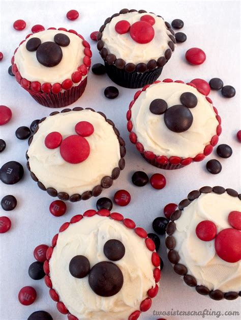 M Mickey m m mickey cupcakes two