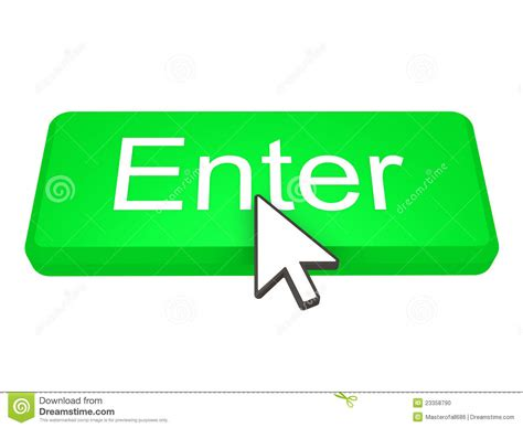 to enter enter button with cursor stock photo image 23358790
