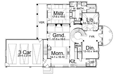 spiral staircase floor plan dramatic spiral staircase 12072jl architectural designs house plans